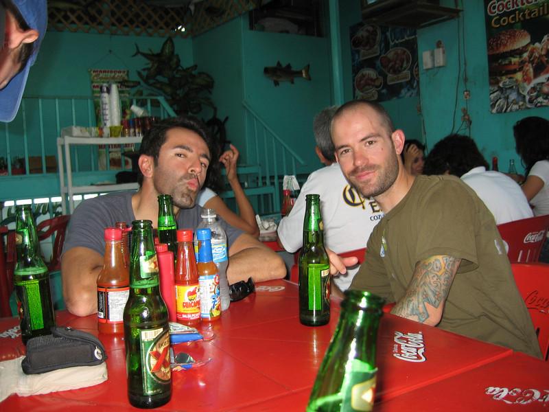 Our first dinner in San Felipe