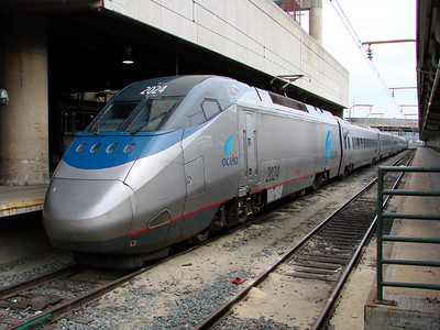 One of the Acela electric trains that runs to the Northeast.  These will hit about 150mph on the open tracks