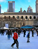 Here's a few of the skaters.  That's the New York Public Library in the background.  Some of you may have only seen it in 'Ghostbusters'