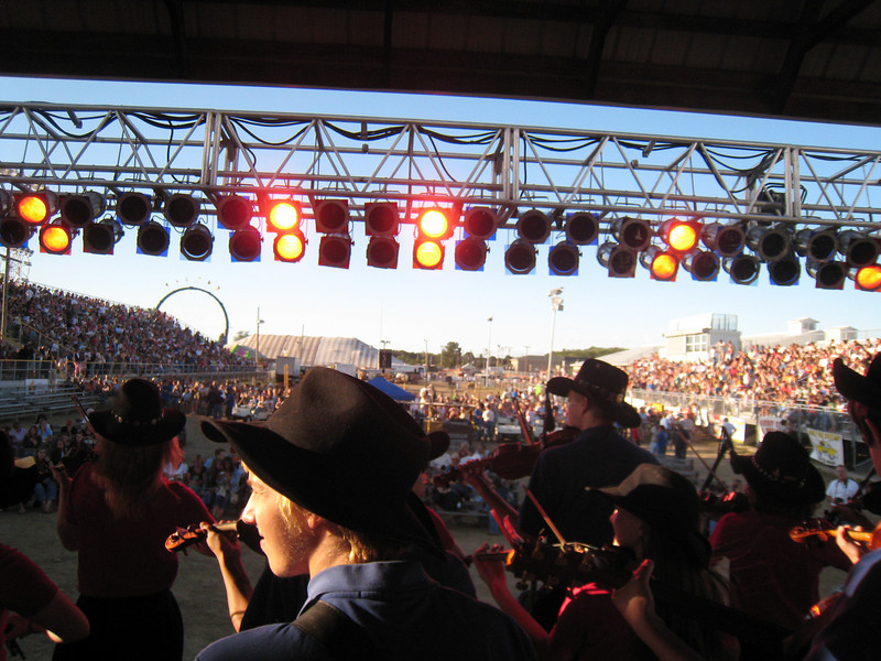 Saline Fiddlers opened for Country Star Rodney Adkins at the Armada Fair in Armada, Michigan on August 17th, 2007. That was a very large audience size