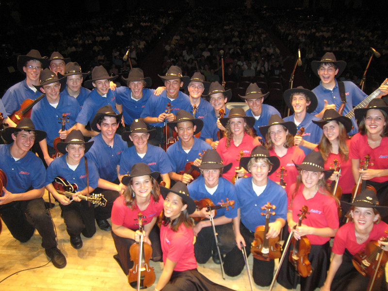 Saline Fiddlers at the Lakeside, Ohio Chautauqua Lakeside Series August 25, 2007.  The series is held in the 2,600 seat Hoover Auditorium right on Lake Erie.  Another big crowd that night as the Fiddlers wowed the 2,000 plus size audience.