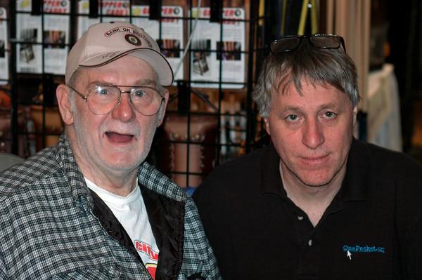 The late Vernon Elliott with Steve Booth