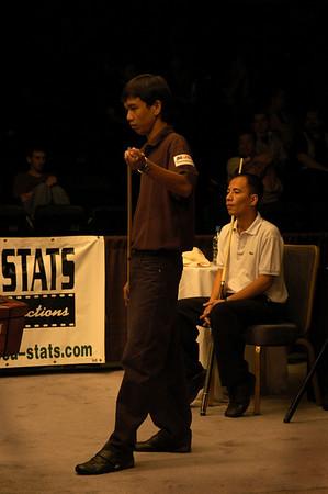 Lee Van Corteza and Dennis Orcollo