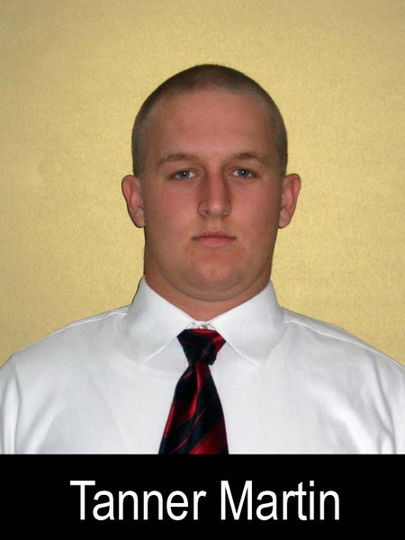 """Graduation Year: 2008<br /> Jersey Number: 55<br /> Position: Center<br /> Height: 6' 0""""<br /> Weight: 225<br /> Bench Max: 290<br /> Squat Max: 350<br /> Power Clean Max: 220<br /> Parent(s): Stan and Laurie<br /> Siblings: Amanda, Natalie, Courtney<br /> Brophy Activities/Clubs: Football, Wrestling, National Merit Scholar - Semi-Finalist<br /> Favorite Book: The Once and Future King<br /> Favorite Movie: Billy Madison<br /> Favorite all time NFL Player: Brett Favre<br /> Pet Peeve: <br /> Most Influential Person(s) In My Life: My parents, Mr. Ryan, my Brophy teachers, my friends<br /> One interesting thing I'd like people to know about me:I like holding hands with the other players in the huddle."""