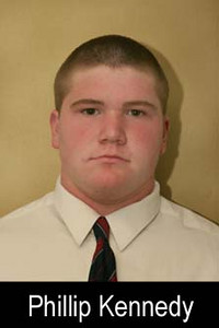 Graduation Year: 2009<br /> Jersey Number: 63<br /> Position: Guard<br /> Height: 6'<br /> Weight: 250<br /> Bench Max: 200<br /> Squat Max: 250<br /> Power Clean Max: 160<br /> Parent(s): Bryan and Jean<br /> Siblings: <br /> Brophy Activities/Clubs: Key Club and lacrosse<br /> Favorite Book: Flight<br /> Favorite Movie: Superbad<br /> Favorite all time NFL Player: Marvin Harrison<br /> Pet Peeve: <br /> Most Influential Person(s) In My Life: <br /> One interesting thing I'd like people to know about me: