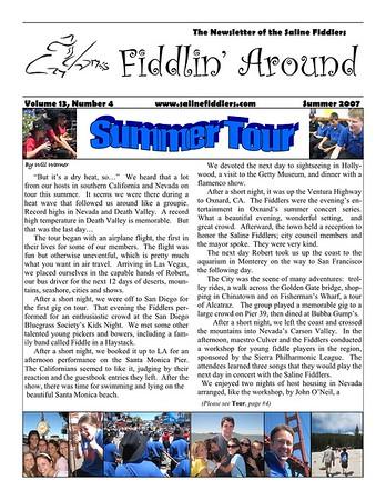 2007 West Coast Tour Newsletter