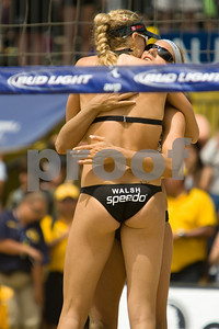 May and Walsh celebrate winning the 2007 AVP Long Beach Open