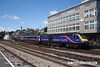 070629-014     First Great Western HST power car, class 43 n0 43037 Penydarren is seen pulling away from Newport, Gwent with a London Paddington bound express.