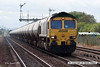 070831-067     Freightliner class 66/6 no 66603 passes Barnetby, powering train 6E54 Kingsbury to Humber oil refinery empty (fuel oil) bogie tanks.