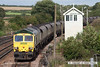 070831-069     Freightliner class 66/5 no 66507 passes Barnetby, powering train 6R16 Immingham to Ferrybridge power station loaded coal hoppers.