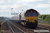 070831-052     EWS class 66/0 no 66047 is seen passing Barnetby powering train 4C75 Scunthorpe to Immingham empty coal hoppers.