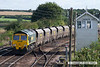 070831-022     Freightliner class 66/6 no 66616 passing Barnetby, powering train 6R10 Immingham to Barrow Hill, loaded coal hoppers.