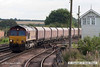 070831-003     EWS class 66/0 no 66097 is seen passing through Barnetby, powering 6C09 Immingham to Eggborough power station loaded coal hoppers.