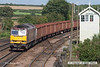 070831-066     EWS class 60 no 60043 passes Barnetby with train 6T26 Immingham to Santon loaded iron ore tipplers.