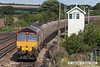 070831-059     EWS class 66/0 no 66199 passes Barnetby with a Immingham to Worksop loaded coal train.