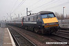 071215-022    National Express East Coast class 91 electric locomotive no 91118, captured speeding through Retford, at the rear of the 10.05 Leeds to London King's Cross.