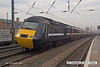 071215-011     A unidentified National Express East Coast HST powercar is seen passing Retford, leading the 09.05 Leeds to London King's Cross.