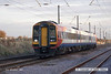 071102-020     Southwest Trains class 159 unit no 159010 is seen speeding north through Claypole, heading to Wabtec, Doncaster.