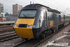 071026-028     GNER class 43, HST power car no 43053 is seen arriving at Doncaster, leading the 14.00 London King's Cross to Aberdeen.