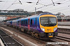 071026-030     First TransPennine Express class 185 unit no 185107 departs from Doncaster with the 14.28 Cleethorpes to Manchester Airport.