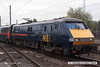 071026-035     Close-up of GNER class 91 no 91107 Newark on Trent, seen arriving at Doncaster with a London St Pancras to Leeds service.