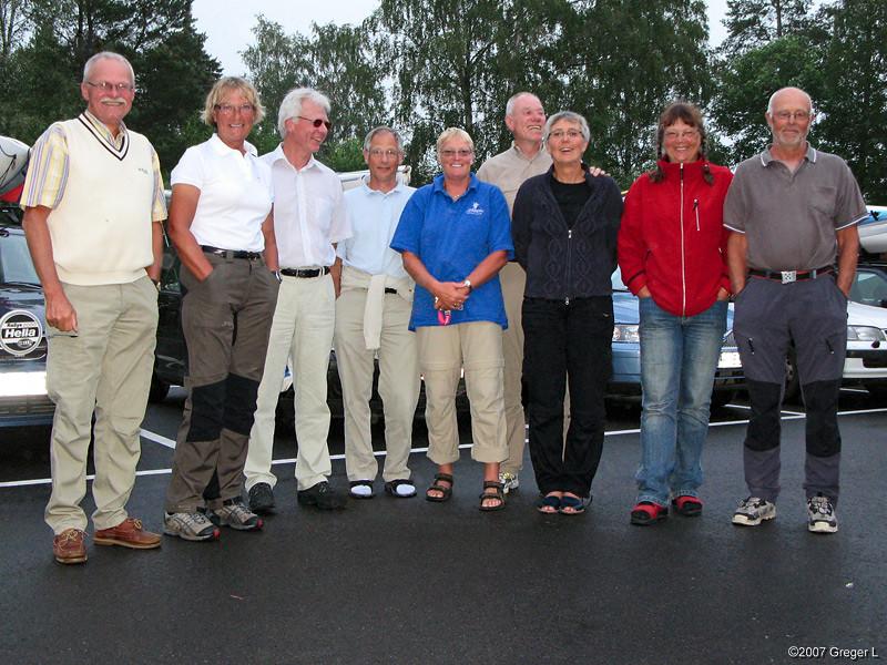 Lag 1 Lars,Kerstin, Bengt, L-G, Anita, Alf, Maj, Marianne, och Kjell. Torbjörn stannade på Åland