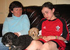 Kathy and Rowan love the new puppy; Jody, as you can see, does not....