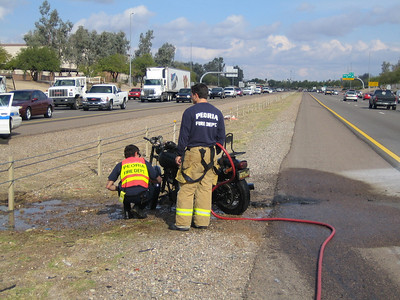 12-11 Peoria Motorcycle Accident with Fire