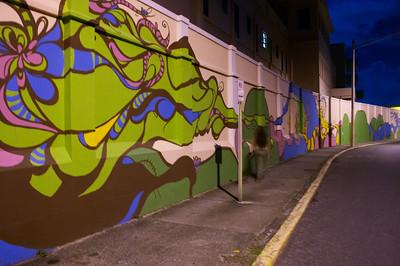 The mural in Old San Juan