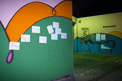 Mairym posts a response to the mural