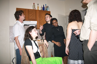 A small portion of the assembled masses at Kelsey and Erin's cocktail party