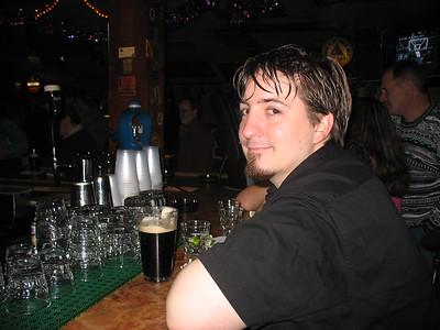 Dan enjoys a Guinness at Fahy's