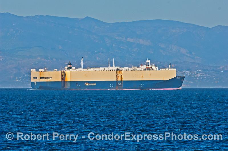 "The car carrier ""Cygnus"" heads for Port Hueneme"