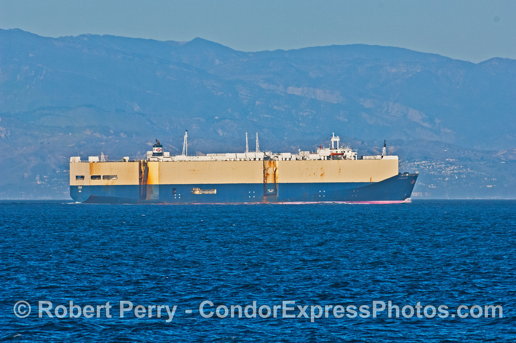 "The car carrier ""Cygnus"" heads for Port Hueneme"