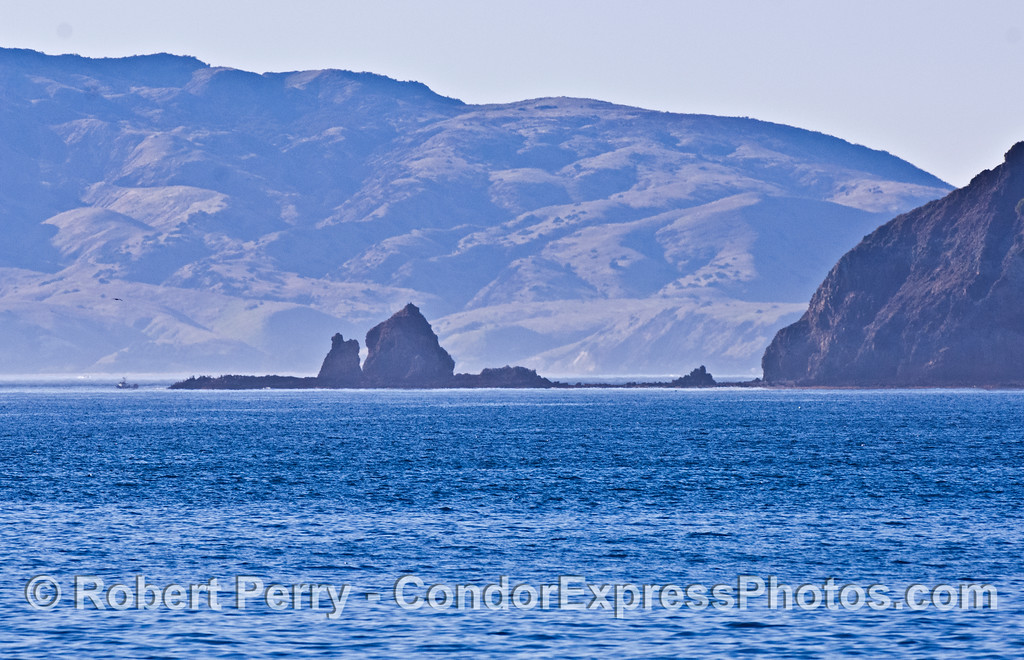 Cat Rock, Anacapa Island - Santa Cruz Island in back