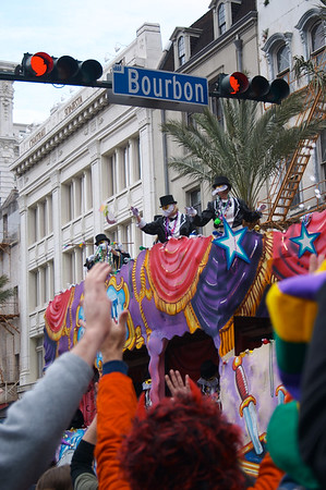 Crossing Bourbon Street