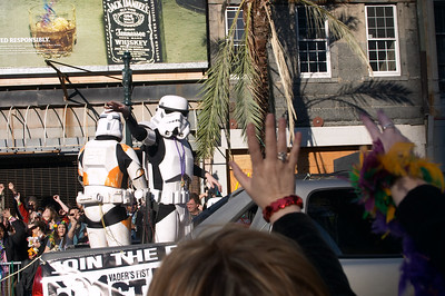 Something incongruous about a stormtrooper wearing beads
