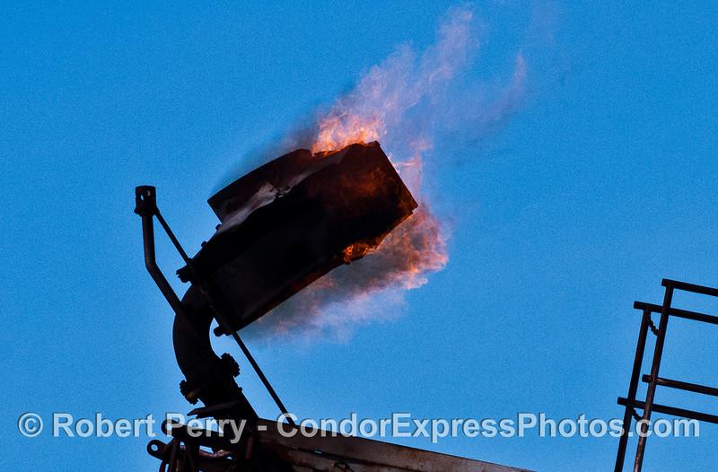 Gas burn off flame Oil Platform Hillhouse 2007 02-17 SB Channel--434