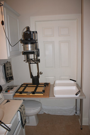 "Omega D2 4x5"" enlarger, Saunders 11x14"" easel, and 11x14"" trays"