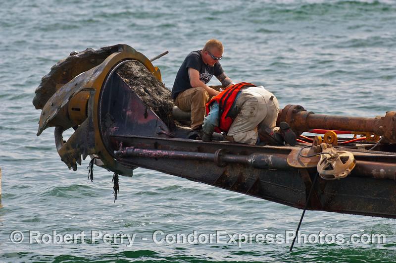 crew of vessel dredge barge Encina 2007 03-04 SB Channel-c-002