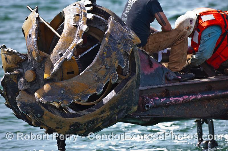 crew of vessel dredge barge Encina 2007 03-04 SB Channel-c-003