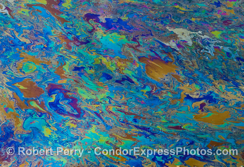 abstract ocean surface oil patterns 2007 03-04 SB Channel-a-004