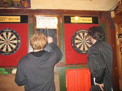 Bryan and Doug play darts