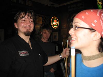 Dan beams at Jenny