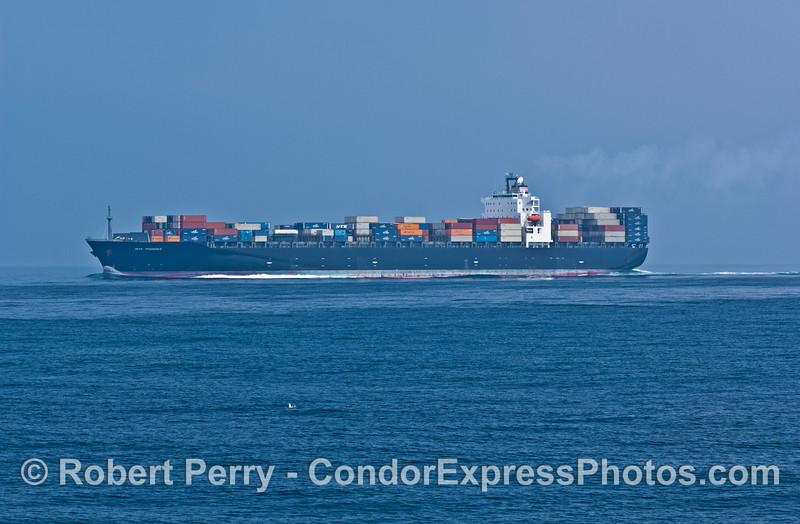 Container cargo vessel NYK Phoenix in the Santa Barbara Channel