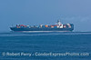 Container cargo vessel NYK Phoenix in the Santa Barbara Channel