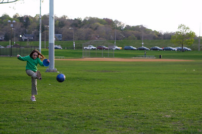 Simultaneous games of catch and kickball put rather extreme demands on the human body