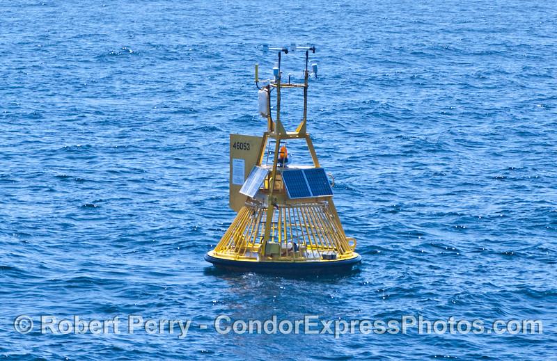 The NOAA east channel oceanographic & meteorological buoy.