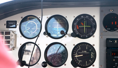 Most of the gauges are still original, with Cyrillic writing and airspeeds marked in km/h