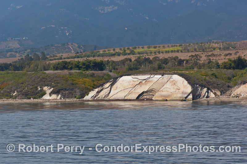Sedimentary rock sea cliffs.